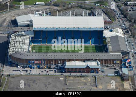Une vue aérienne d'Elland Road, accueil de Leeds United FC Banque D'Images