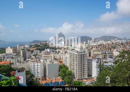 Vue de Rio avec pain de Santa Teresa, Rio de Janeiro, Brésil Banque D'Images