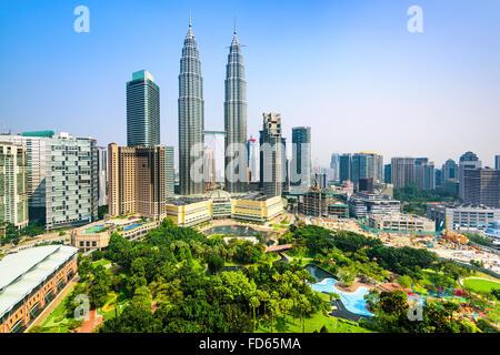 Kuala Lumpur, Malaisie Centre-ville d'horizon. Banque D'Images