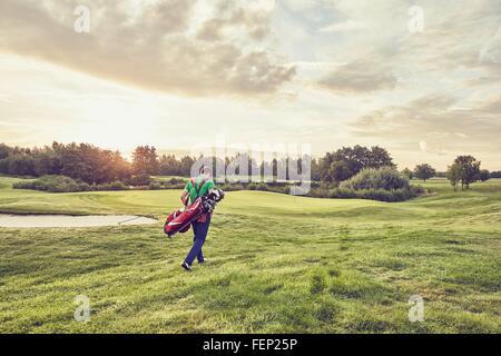 Bien entendu, le golfeur à Korschenbroich, Düsseldorf, Allemagne Banque D'Images