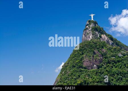 Statue du Christ sur la montagne du Corcovado, Rio Banque D'Images