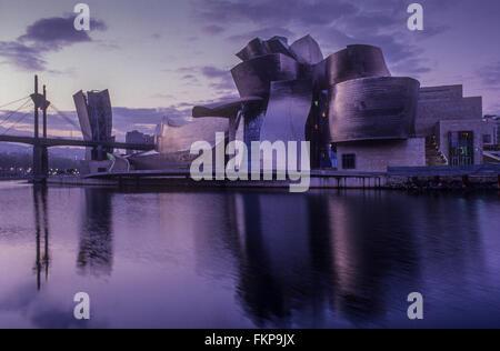 Musée Guggenheim de Frank O. Gehry. Bilbao. Vizcaya. Espagne Banque D'Images
