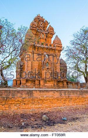 Po Klong Garai temple, 13e siècle, les Tours Cham Phan Rang-Thap Cham, province de Ninh Thuan, Vietnam Banque D'Images
