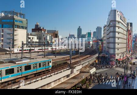 La Gare de Ueno, Tokyo, Japon. Banque D'Images