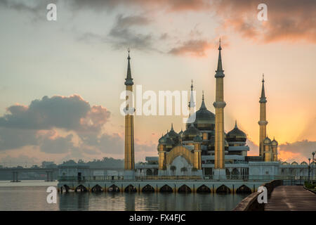 Mosquée de cristal à Kuala Terengganu, Malaisie Banque D'Images