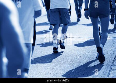 Courir vite à Marathon Banque D'Images