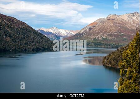 L'automne à Bariloche, Patagonie, Argentine Banque D'Images