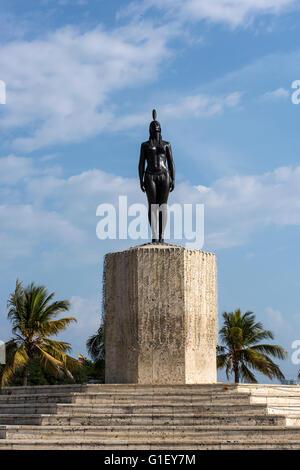 Statue de Catalina Cartagena de Indias (Colombie Amérique du Sud Banque D'Images