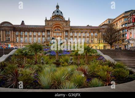 Le premier des hôtels de ville monumentale, qui marquera l'les villes de l'Angleterre Victorienne, l'Hôtel de ville Banque D'Images