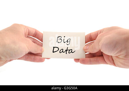 Texte big data concept isolated over white background Banque D'Images