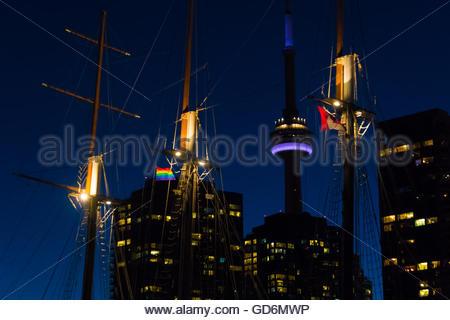 Canada Toronto skyline de détails dont la Tour CN Banque D'Images