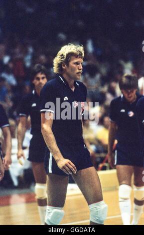 USA #7 Craig Buck, 1984 L'équipe de volley-ball Olympique hommes Banque D'Images