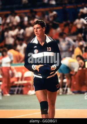 USA #13 Pat Powers, 1984 hommes de l'équipe de volley-ball olympique Banque D'Images