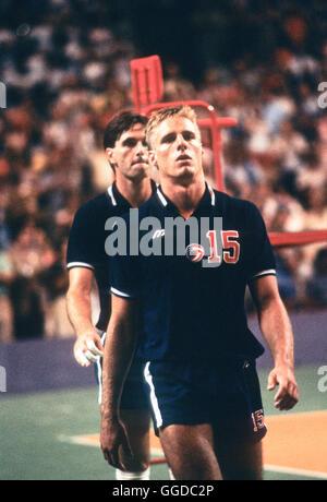 USA #15 Karch Kiraly, les hommes de l'équipe de volley-ball aux Jeux Olympiques de 1984 Banque D'Images
