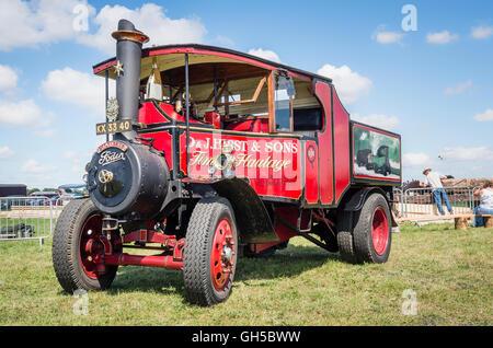 Ancien véhicule de transport de vapeur Foden à partir des années 1920 Banque D'Images