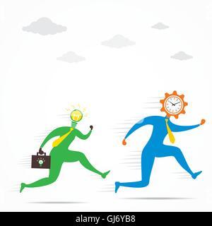 Nouvelle idée suivez le temps de livrer concurrence concept vector Banque D'Images