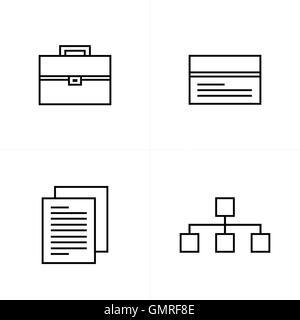 Ligne d'icônes de style design Banque D'Images