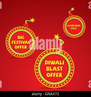 Happy Diwali shopping vente design de bannières vector Banque D'Images