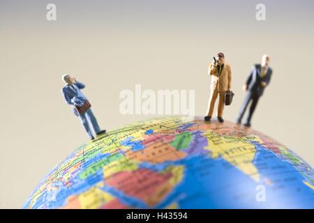 Globe, figures, icône, affaires, communication, à l'échelle internationale, Banque D'Images