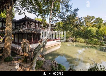 L'Humble Administrator's Garden, un jardin chinois à Suzhou, site du patrimoine mondial de l'UNESCO Banque D'Images
