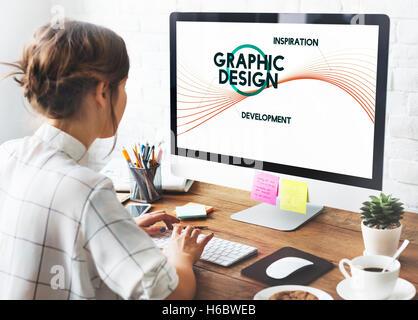 Concept de design graphique Créatif Idées Banque D'Images