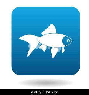 L'icône de poisson rouge, le style simple Banque D'Images