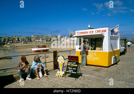 En 1990, St Ives, Cornwall, Angleterre, Royaume-Uni, Europe Banque D'Images