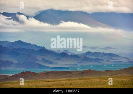 La Mongolie, Bayan-Ulgii province, l'ouest de la Mongolie, les montagnes colorées de l'Altay Banque D'Images