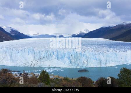 La Patagonie, le Glacier Perito Moreno Glacier bleu Banque D'Images