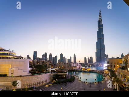 Burj Khalifa, le centre-ville, Dubaï, Émirats Arabes Unis Banque D'Images