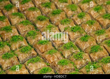 Ramadan Dessert Baklava turc avec concept background Banque D'Images