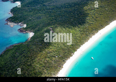 Whitsunday Islands, Whitehaven Beach, Queensland, Australie Banque D'Images