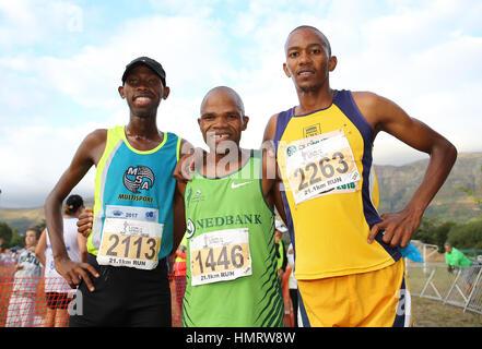 L'athlétisme local réunion à Cape Town, Cape Town, Afrique du Sud Banque D'Images