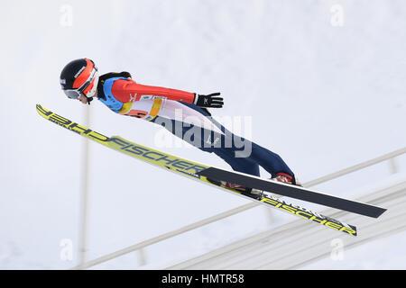 Almaty (Kazakhstan). Feb, 2017 5. Yuka Kobayashi (JPN) lors de la 28e Universiade d'hiver 2017 d'Almaty à l'équipe Banque D'Images