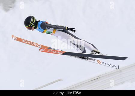 Almaty (Kazakhstan). Feb, 2017 5. Haruka Iwasa (JPN) lors de la 28e Universiade d'hiver 2017 d'Almaty à l'équipe Banque D'Images