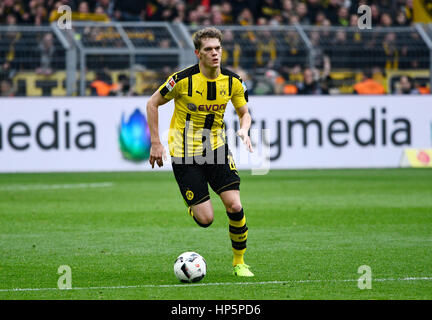 Parc Signal-Iduna, Dortmund, Allemagne. 18 Février, 2017. Saison 2016/17 Bundesliga allemande, journée 21, Borussia Banque D'Images