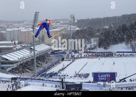 Lahti, Finlande. Feb 24, 2017. Lahti 24.02.2017 Stefan Kraft (AUT), Championnats du Monde de ski nordique, saut Banque D'Images