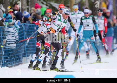 Lahti, Finlande. Feb 24, 2017. Lahti 24.02.2017 Bernhard Gruber (AUT), Championnats du Monde de ski nordique, le Banque D'Images