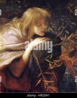Ophelia - George Frederic Watts Banque D'Images