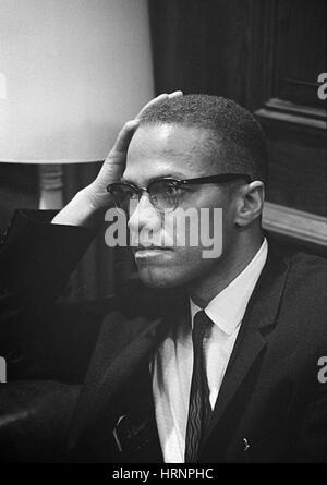 Malcolm X, militant des droits de l'Américain Banque D'Images