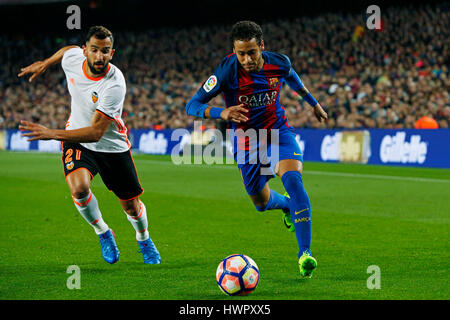 Barcelone, Espagne. Credit: D. 19e Mar, 2017. Neymar (Barcelone) Football/soccer: Espagnol Primera Division 'Liga Banque D'Images