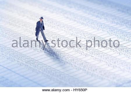 Businessman jouer le marché boursier Banque D'Images