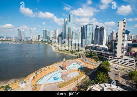 L'horizon de la ville de Panama, Panama, Amérique Centrale Banque D'Images