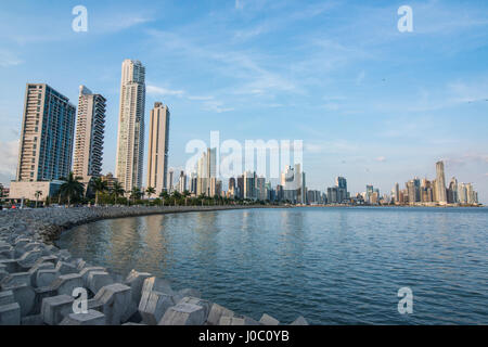 Des toits de la ville de Panama, Panama, Amérique Centrale Banque D'Images