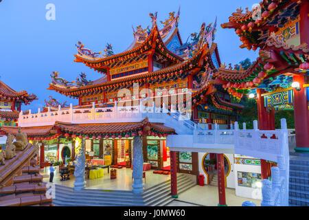 Thean Hou Temple bouddhiste au crépuscule, Kuala Lumpur, Malaisie Banque D'Images