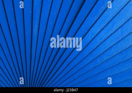 Résumé Contexte Radial bleu avec rayures en bois Banque D'Images