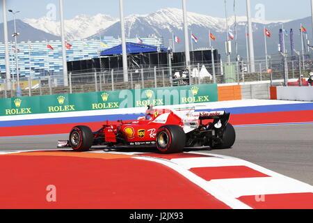 Sochi, Russie. Apr 28, 2017. 28.04.2017, Sotchi, Sotchi Autodrom, Formule 1, GRAND PRIX russe VTB 28.04. - 30.04.2017 Banque D'Images