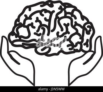 Symbole du cerveau humain Banque D'Images