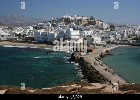 Capitale de Naxos du temple gate Banque D'Images