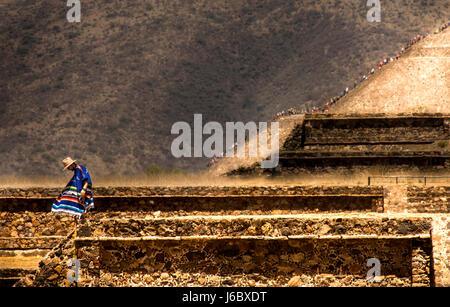 Site de Teotihuacan. La ville de Mexico Banque D'Images